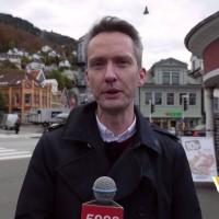 Folkefest og dåp av Bergens første vulkan