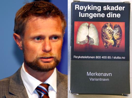 9edc9856 Bent Høie: – Mennesker som ikke er redd for kreft vil avskrekkes av ekkel  farge på røykpakken