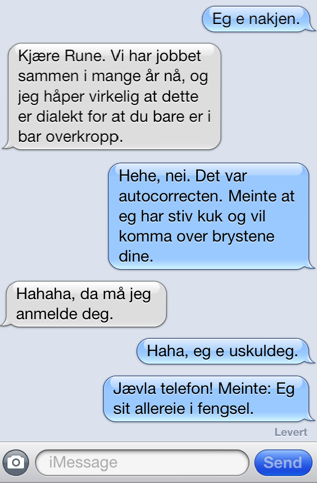 Bilderesultat for autokorrektur norsk